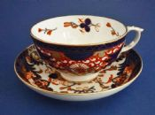 Derby Porcelain Works 'King's Pattern' Tea Cup and Saucer c1820 #1